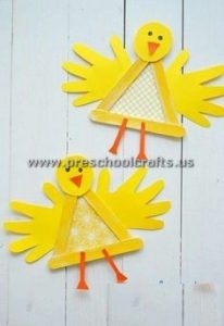 chick popsicle stick crafts for kids