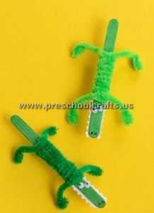crocodile popsicle crafts for kids