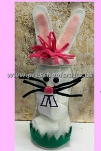 easter bottle bunny craft ideas