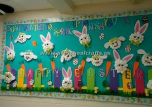 easter bunny bulletin board