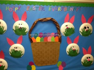 easter bunny bulletin board ideas for kids