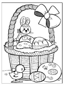 easter bunny egg coloring page for kids