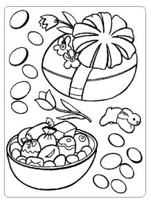easter celebrations coloring pages