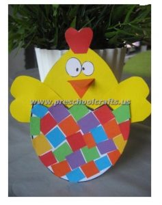 easter chick craft ideas for kindergarten