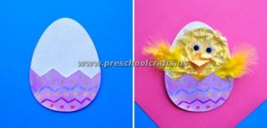easter egg and chick crafts for kids