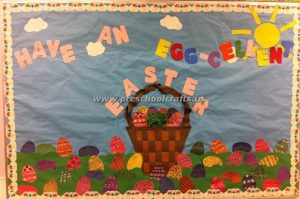easter egg bulletin board