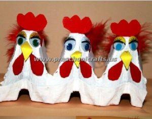 easter egg cartoon crafts