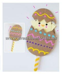 easter egg chick crafts for kids