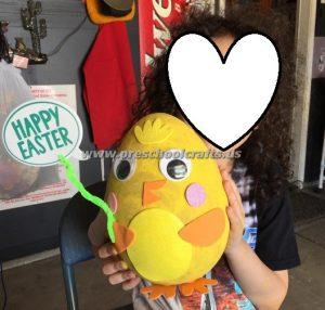 easter egg chick crafts for kindergarten