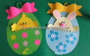easter egg chick crafts for preschoolers