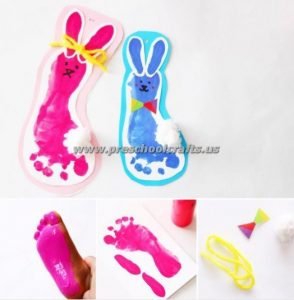 easter footprint crafts for kids