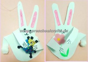 easter handprint bunny crafts