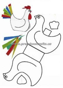 easter hen crafts for kids