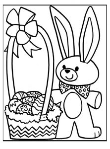 easter panda coloring pages for firstgrade