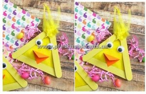 easter popsicle stick chick crafts