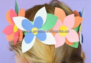 flowers spring crown ideas for kids