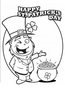 free printable St. Patrick's Day coloring pages for 1st grade