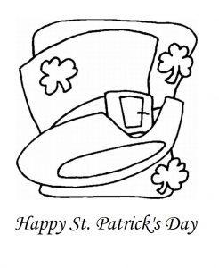 free printable St. Patrick's Day coloring pages for preschool