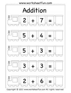 free printable addition worksheet