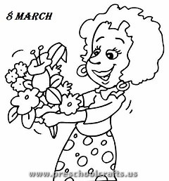 free printable womens day coloring pages