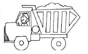 garbage truck coloring pages for preschoolers