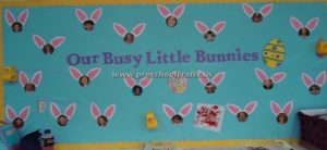 happy easter bulletin board for kids