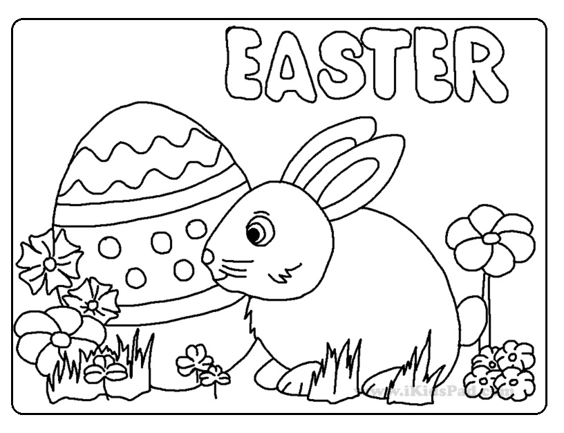 Happy Easter Coloring Pages for Kids - Preschool and ...