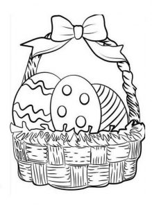 happy easter egg coloring pages