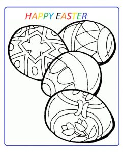 happy easter free download coloring pages for preschool
