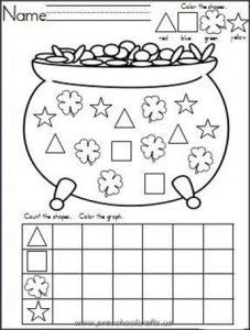kindergarten st patrick day worksheets