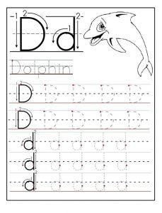 letter d worksheet for preschool