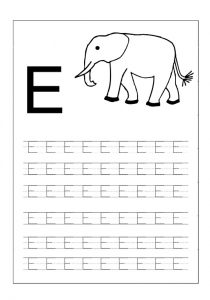 letter e worksheet for preschool