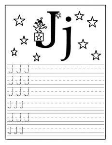 letter j worksheet for preschool