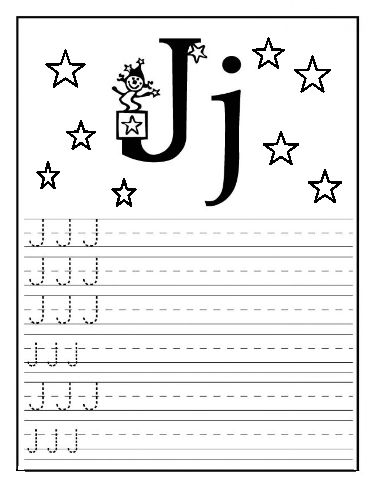 letter j worksheet for kindergarten preschool and 1 39 st grade preschool and kindergarten. Black Bedroom Furniture Sets. Home Design Ideas