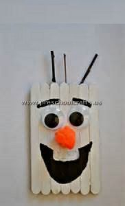 olaf popsicle stick crafts for kids