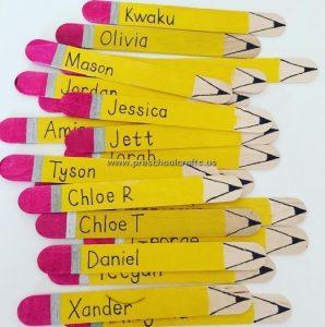 pencil popsicle stick crafts