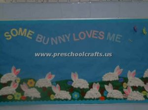 preschool easter bunny bulletin boards
