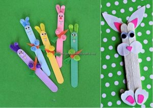 rabbit popsicle stick crafts