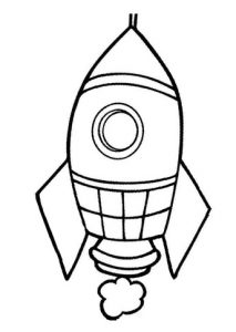 rocket coloring pages for kindergarten and preschool