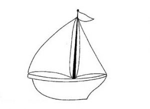 sail boat coloring pages for preschool and kindergarten - free printable