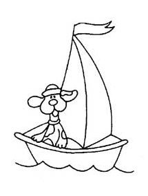 sailboat coloring pages for preschool and kindergarten - free printable