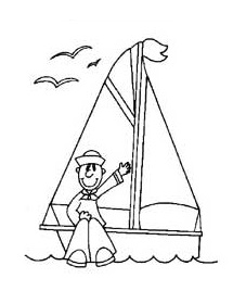 sailboat coloring pages for preschool and kindergarten