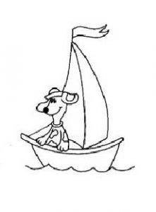 sailboat dog coloring pages for preschool and kindergarten free printable