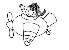 sailplane coloring pages for preschooler