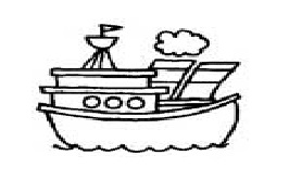 sea vehicles coloring pages for preschool and kindergarten - free printable