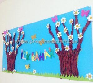 seasons bulletin board ideas for preschool