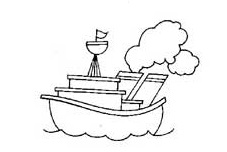 ship coloring pages for preschool and kindergarten - free printable