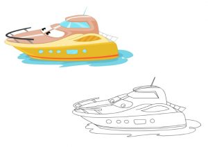 ship colouring pages for kindergarten and preschool