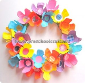 spring flowers headband crafts for kids