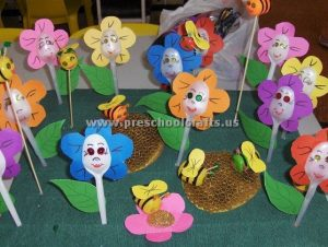 spring spoon flowers crafts for kids